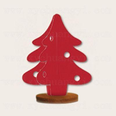 商品名称:新年系列立体摆饰-圣诞树红